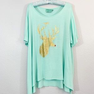 Anthropologie Judith March Rudolph Graphic Tee